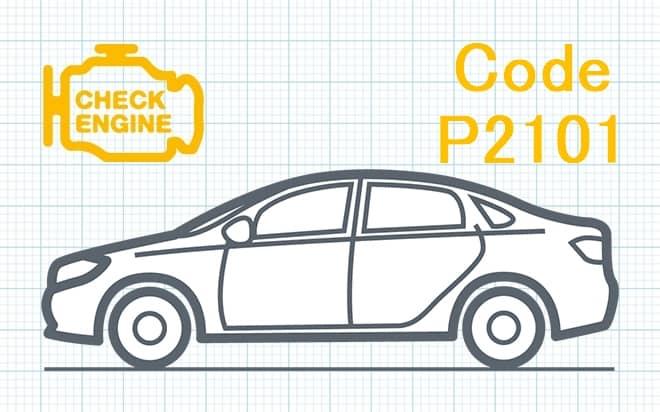 """Код ошибки P2101 – несоответствие диапазона рабочих характеристик цепи управляющего двигателя """"А"""" привода дроссельной заслонки"""