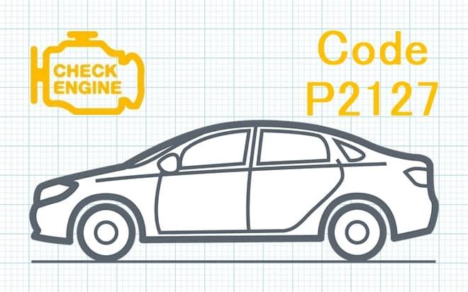"""Код ошибки P2127 – низкий уровень сигнала в цепи датчика """"E"""" положения дроссельной заслонки либо педали акселератора"""