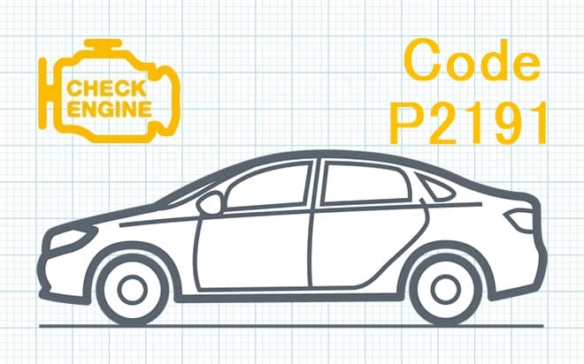 Код ошибки P2191 – слишком бедная смесь при высокой нагрузке (Банк 1)
