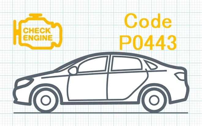 Код ошибки P0443 – неисправность в цепи клапана продувки системы контроля за отводом паров топлива