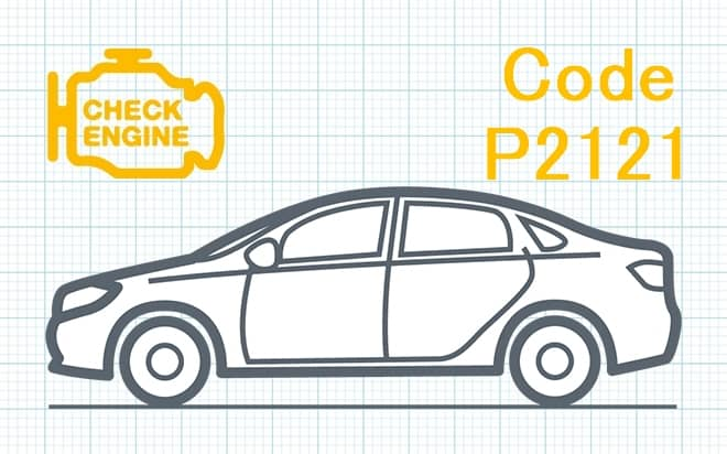 """Код ошибки P2121 – несоответствие диапазона рабочих характеристик датчика """"D"""" положения дроссельной заслонки либо педали акселератора"""