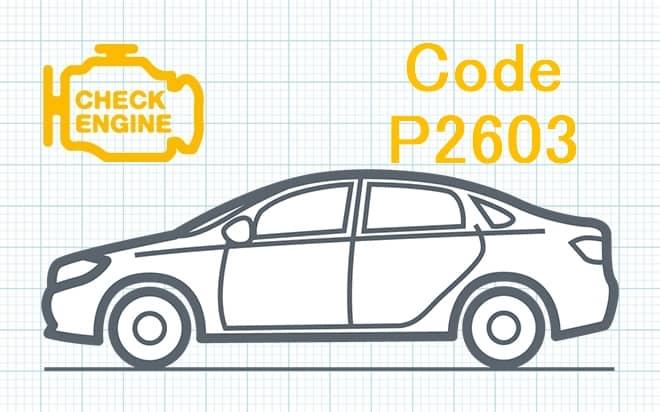 """Код ошибки P2603 – высокий уровень сигнала в цепи """"А"""" управления насосом охлаждающей жидкости"""