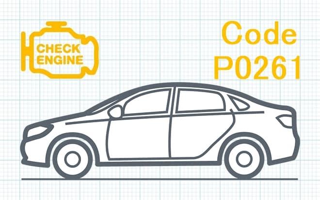 Код ошибки P0261 – низкий уровень сигнала в цепи управления топливной форсунки 1-го цилиндра