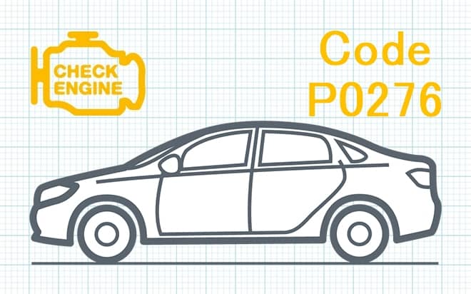 Код ошибки P0276 – низкий уровень сигнала в цепи управления топливной форсунки 6-го цилиндра