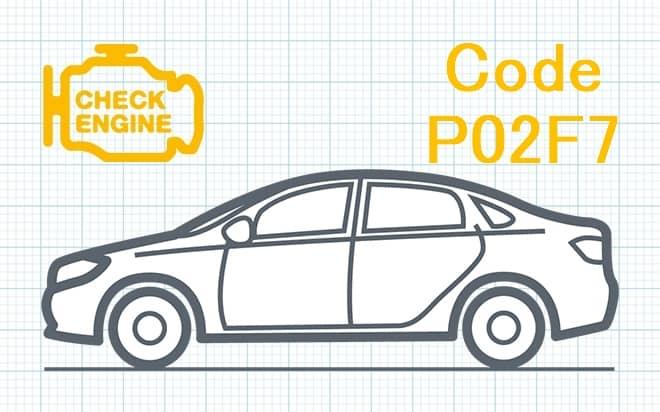 Код ошибки P02F7 – несоответствие диапазона рабочих характеристик цепи топливной форсунки в цилиндре 10