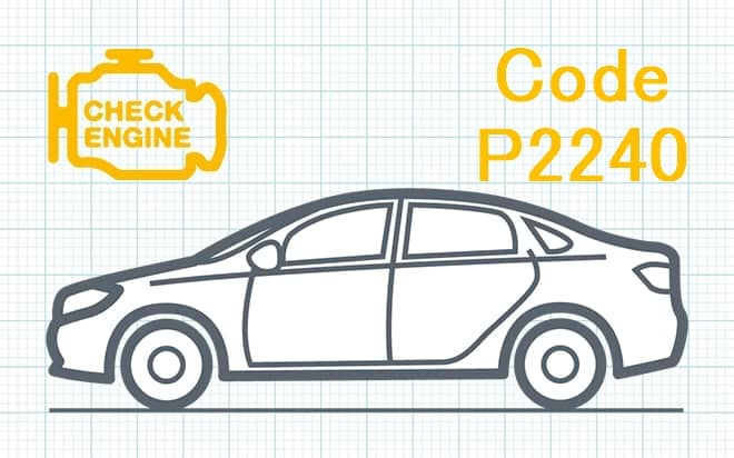 Код ошибки P2240 – обрыв плюсовой цепи управления датчика кислорода O₂ (Банк 2, Датчик 1)