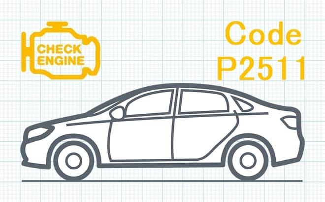 Код ошибки P2511 – прерывистый сигнал в цепи датчика реле питания блока управления двигателем/трансмиссией (ECM/PCM)