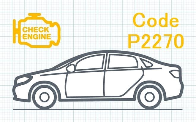 Код ошибки P2270 – сигнал датчика кислорода O₂ застрял в положении слишком бедная смесь (Банк 1, Датчик 2)