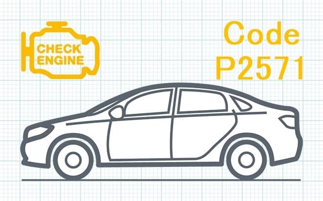 Код ошибки P2571 – прерывистый сигнал в цепи датчика температуры катализатора прямого восстановления озона