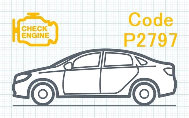 Код ошибки P2797 – несоответствие диапазона рабочих характеристик цепи управления вспомогательного насоса охлаждения трансмиссионной жидкости