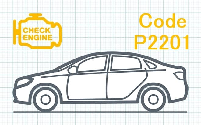 Код ошибки P2201 – несоответствие диапазона рабочих характеристик цепи датчика оксидов азота (Банк 1)